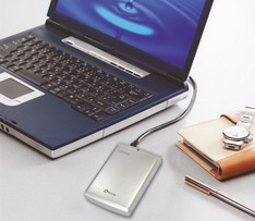portable hard disc with computer